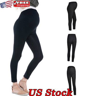 Maternity Leggings Solid Color Pants Clothes Pregnant Women Pants Long Trousers