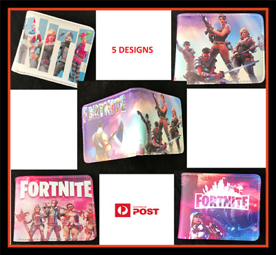 Fortnite Legend Kids Boys Mens Bifold Purse Money Wallet Bag  - 5 GREAT DESIGNS