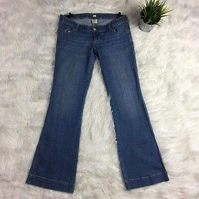 Old Navy Maternity Jeans SIZE 4 Boot Cut Stretch Under Belly Denim Womens Small