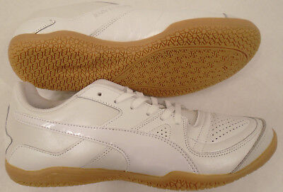 NEW PUMA Men s 8 Leather Invicto Made in Japan Indoor Soccer Shoes White  103996 0f4c70b8a
