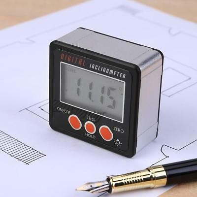 Digital LCD Protractor Inclinometer Angle Finder Bevel Level Box W/ Magnet Base