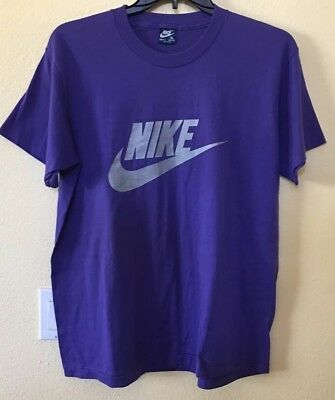 Vintage 1980's Nike T Shirt RARE Blue Tag Spell Out Made In USA XL L