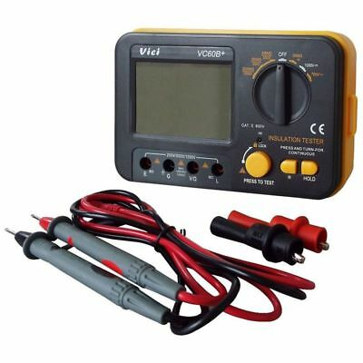 VC60B+ Digital Insulation Resistance Tester Electronic Megger DC/AC 0.1~2000m G6