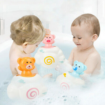 Cartoon Animals Bath Bathroom Will Rain Clouds Filled Water Baby Child Toys B