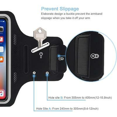 iPhone Xs Max Armband JEMACHE Thin Sweatproof Gym Running/Workouts Arm Band Case