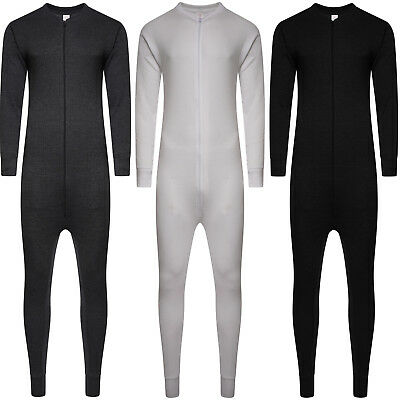 Mens All In One Underwear Thermal Jumpsuit Set Union Zip Suit Baselayer New Size