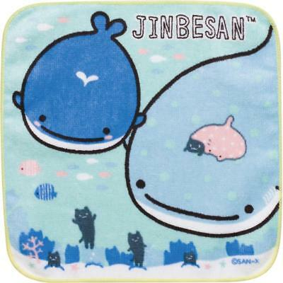 Jinbesan Mini Petit Towel Mr Whale Shark Nekonbu KoKujira San-x Japan