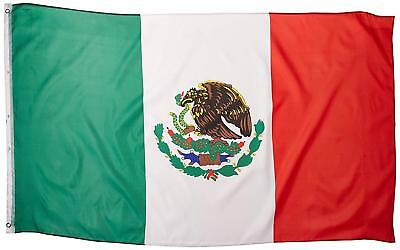 Brand New Lightweight Polyester Mexico Mexican Flag Banner 5' x 3' US Seller