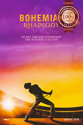 New Bohemian Rhapsody Freddie Mercury Original Cinema Movie Print Premium Poster