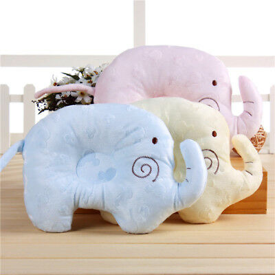 Soft Newborn Baby Pillow Prevent Flat Head Elephant Pad Support Sleep Cushion