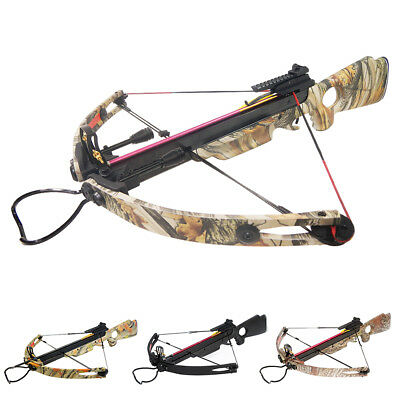 150 lb Black / Camouflage Camo Compound Hunting Crossbow Bow +2 Arrows 180 80 50