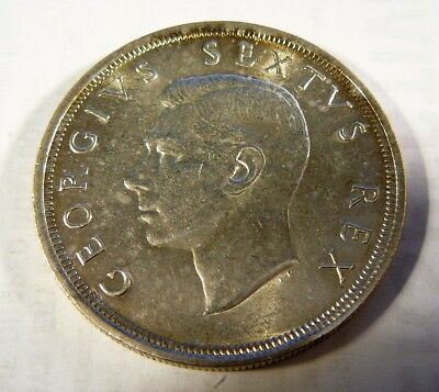 1948 South Africa 5 Shilling George VI silver coin
