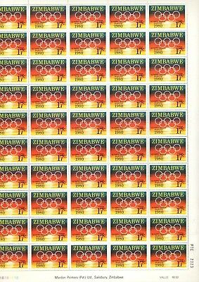 1880 Zimbabwe - Moscow Olympics Games Mint Stamp Sheet From Collection Sh1