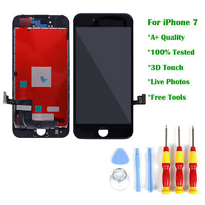 Black For iPhone 7 LCD Touch Display Screen Replacement Digitizer Assembly UK