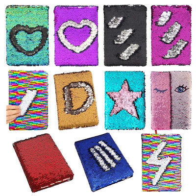 Reversible Sequin Journal Diary Magic A6 Note book Writing Book for Kid Girl
