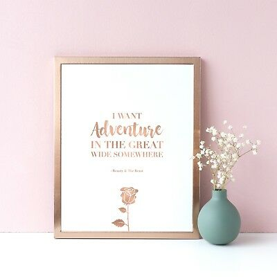 Disney Beauty And The Beast Inspirational Typography Quote Print