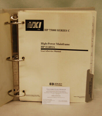 HP E1401A High Power Mainframe User/Service Manual
