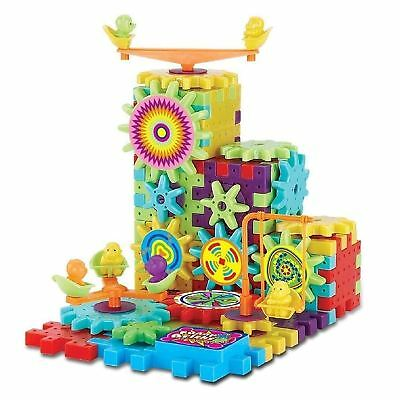 81pc Kids IQ Builder Game Building Blocks Gear Cogs 3D Shapes Jigsaw Puzzle Toy