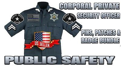 Corporal Chevrons Public Safety Private Security Officer Shoulder Patches