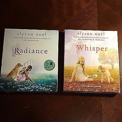 Juego Alyson NOEL'S Radiance & Whisper 2 Audiolibro Lote Ny Veces Best Sell