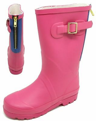 Womens Ladies Junior Sizes Wellies Wellington Boot Outdoor Girls Shoes Size 13-5