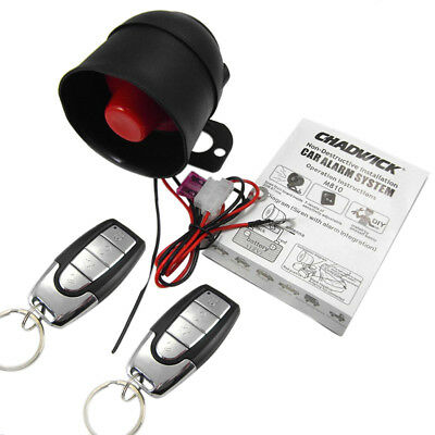 Car Remote Keyless Entry Vibration Alarm Security System + 2 Remote Control