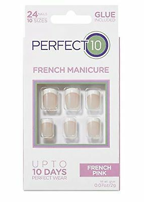 Perfect 10 French Artificial Nails -  French Pink