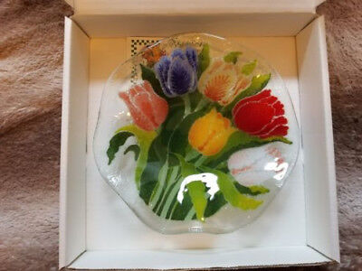 """Peggy Karr 9"""" Tulip Bowl , Signed and Retired , Brand New"""