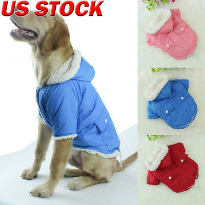 Winter Warm Padded Dog Clothes Waterproof Pet Coat Vest Jacket For Dogs 3 Size