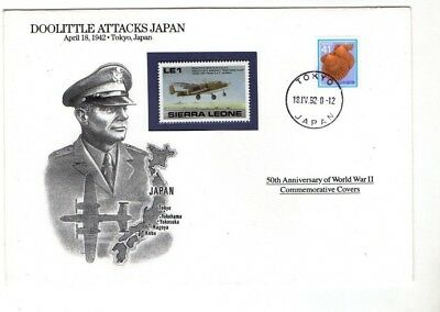 1992 Sierra Leone - Doolittle Attacks Japan Fdc From Collection Z1/18