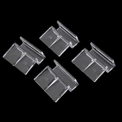 4x Aquarium Fish Tank Acrylic Clips Glass Cover Support Holders 681012mm TOP