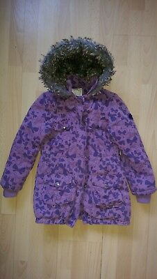 88ac2f1a365c VERTBAUDET GIRLS FAUX Fur Lined Coat Winter Warm Jacket Age 8 years ...