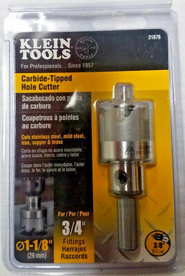 """Klein Tools 31876 Carbide Tipped 3/4"""" Hole Cutter"""