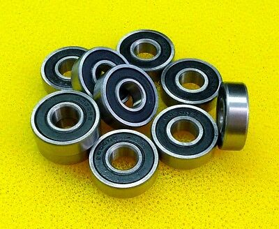 [4 PCS] S699-2RS (9x20x6 mm) 440c Stainless Steel Rubber Seal Ball Bearings