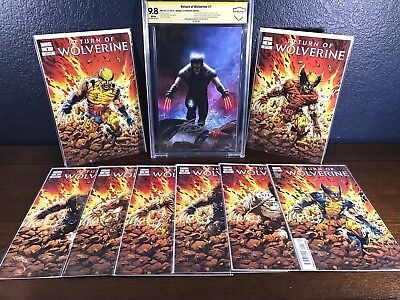Variant Lot RETURN OF WOLVERINE #1 InHyuk Lee CBCS 9.8 NM+ 1st Appearance cgc ss