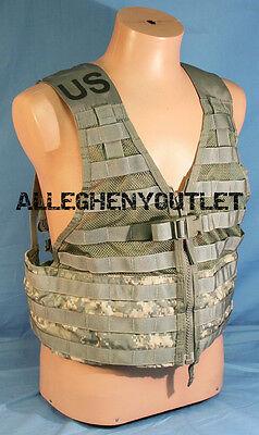 US Military ACU FLC Fighting Load Carrier Tactical Vest Digital Camo MOLLE EXC