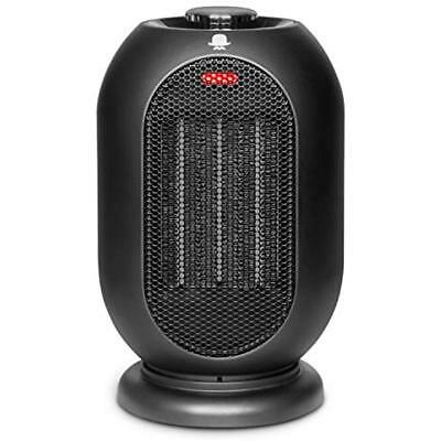 Small Space Heater For Office, 1200W/700W Electric Home, Ceramic Fan, Tip-Over