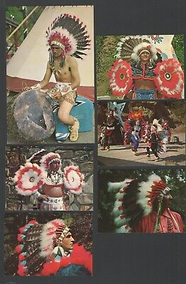 6 Postcard Pioneer Trading Post Cherokee Indian Reservation N. Carolina crafts