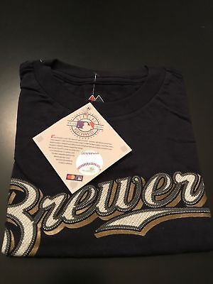 NEW Milwaukee Brewers Ryan Braun #8 MLB Majestic Toddler Tshirt Jersey Size 2T