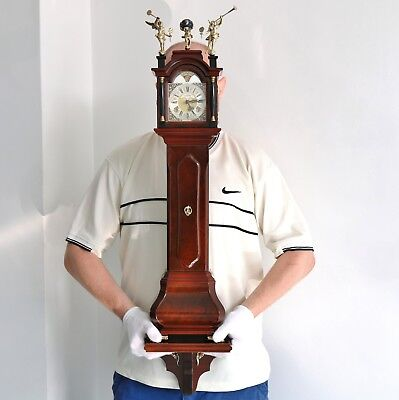 WARMINK BABY Grandfathers Clock Mantel AND Wall MOONPHASE CONSOLE CHIME Vintage