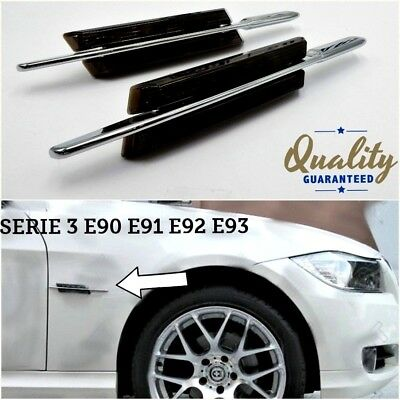 FRECCE laterali LED NERO bmw SERIE 3 E90 E91 E92 E93 tuning m sport performance