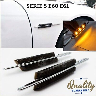 bmw SERIE 5 E60 E61 FRECCE laterali LED NERO tuning m sport performance 530 525