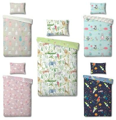 Kids Childrens Cot Duvet Cover & Matching Pillowcase Sets - 90cm x 120cm