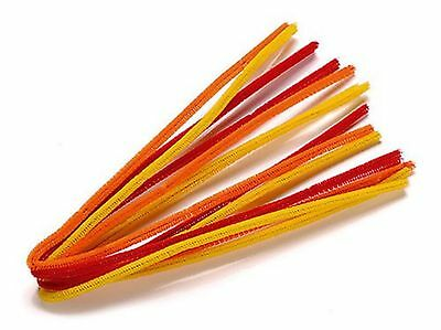 Knorr Prandell 8471011 Pipe Cleaners, 50 cm x 6 mm Diameter, Orange Mix
