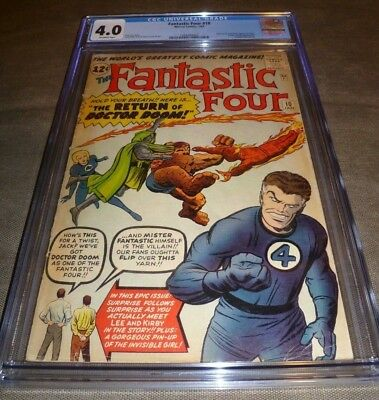 FANTASTIC FOUR #10 CGC 4.0 Doctor Doom appearance, Invisible Girl pin-up Marvel
