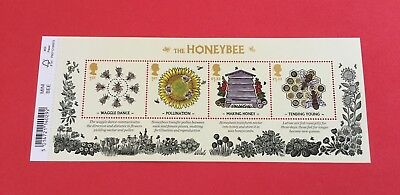 Gb 2015 The Honeybee Miniature Sheet With Barcode M/s 3742 Mnh