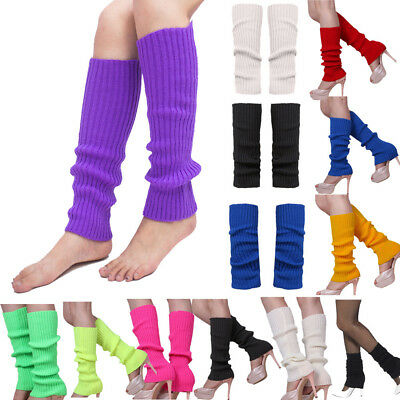 Women's Leg Warmers Cuffs Crochet Over Knee Ankle Leggings Knit Socks Boot Sport