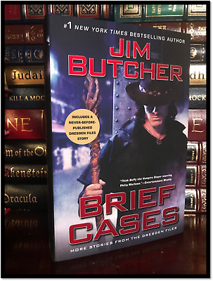 Brief Cases ✎SIGNED✎ by JIM BUTCHER New Dresden Files Hardback 1st Ed & Printing