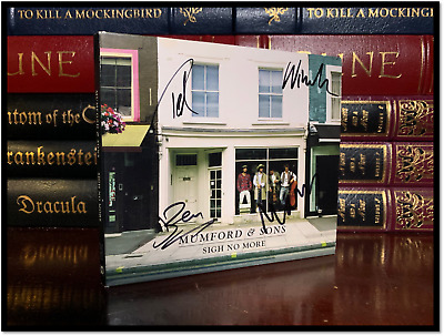 Sigh No More ✎SIGNED♫ by ALL MUMFORD & SONS MARCUS BEN TED WINSTON CD