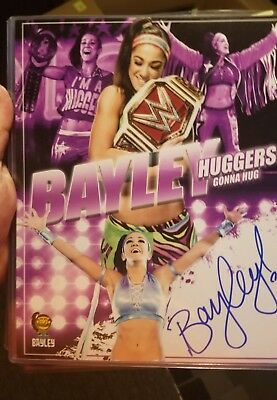 Bayley wwe signed autograph 8x10 photo